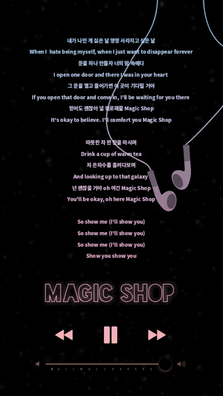 BTS Magic Shop Lyrics Wallpaper Lockscreen dYOE This so