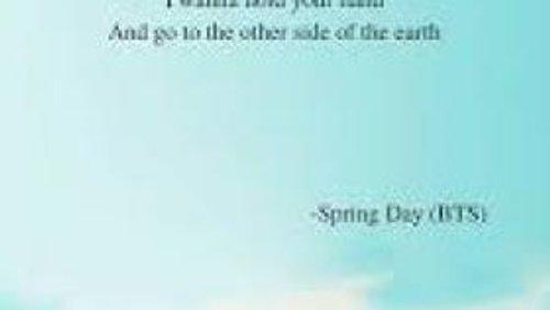 Bts Spring Day Lyrics Wallpaper