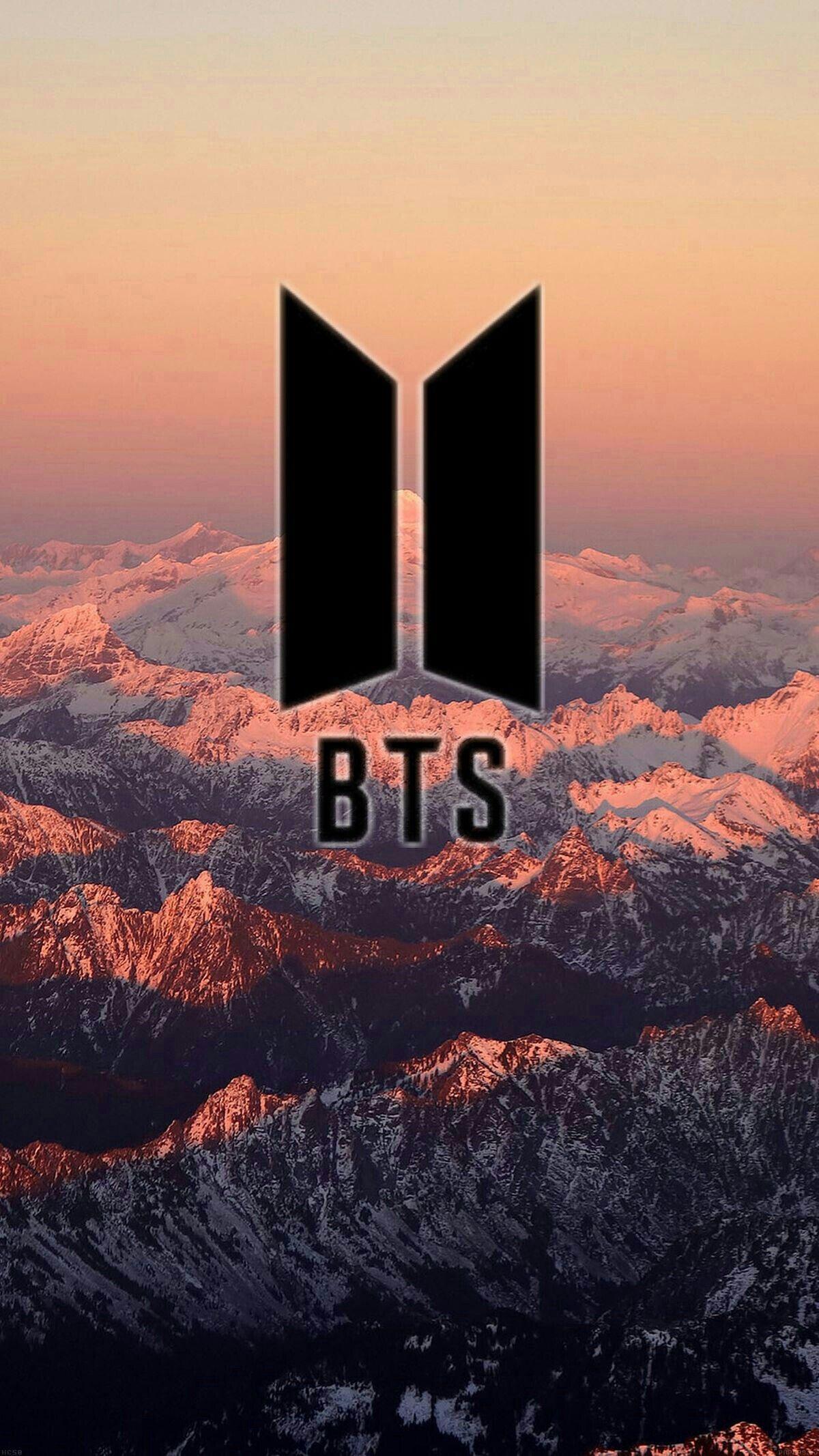 Wallpaper Iphone Bts Logo