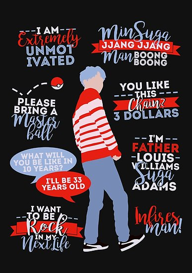 BTS Suga Quotes Posters By ZeroKara Redbubble Lively Bts