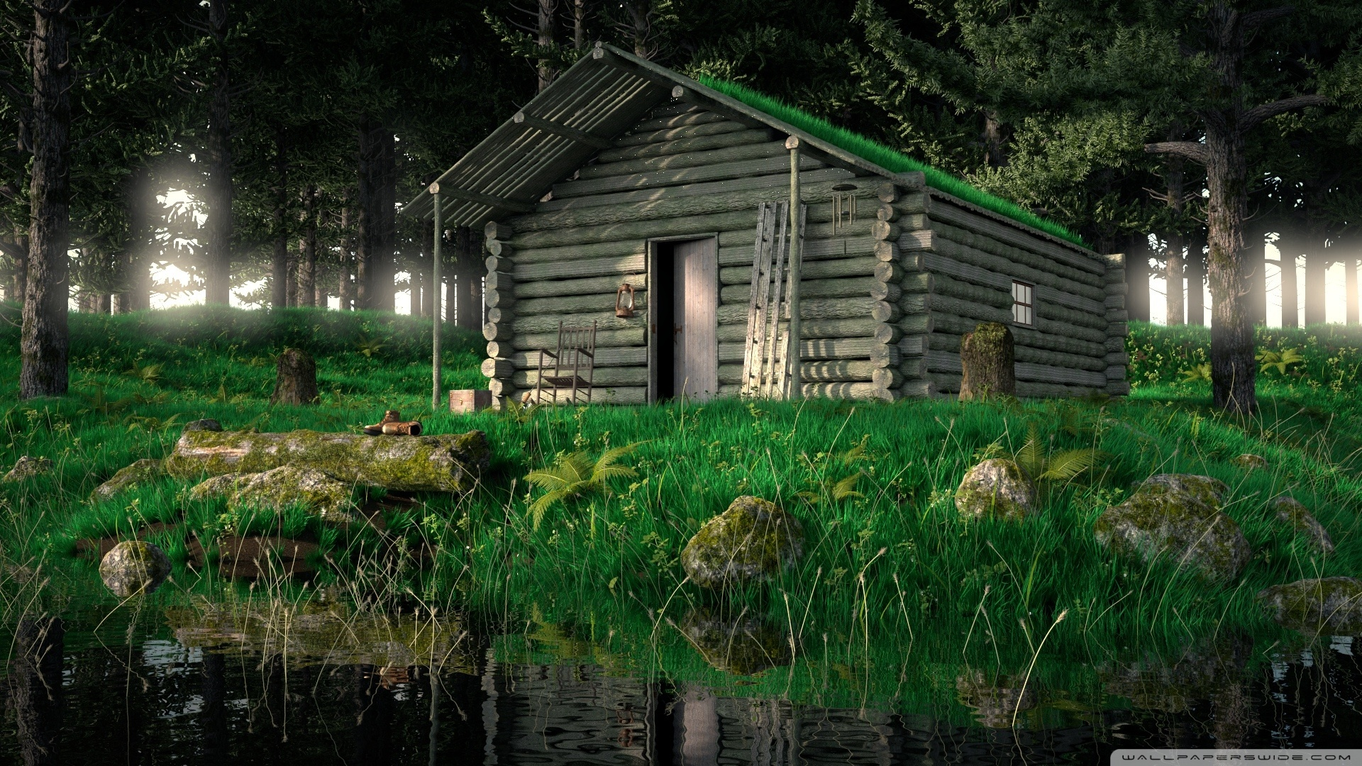 Cabin In The Woods Wallpaper Posted By Zoey Simpson