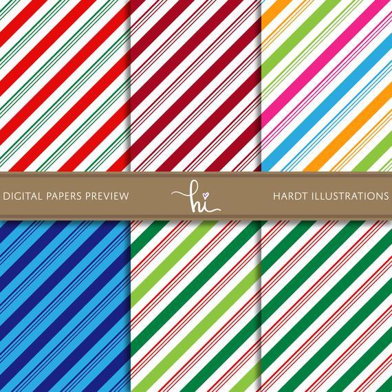 Candy Cane Stripes Digital Paper Christmas Wallpaper Peppermint Design Stripe Digital Paper Xmas Printable Paper Cute Seamless Patterns