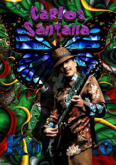 54 Muster TOP LEINWAND BILD BILDER MODERN HD ART Carlos Santana 2504