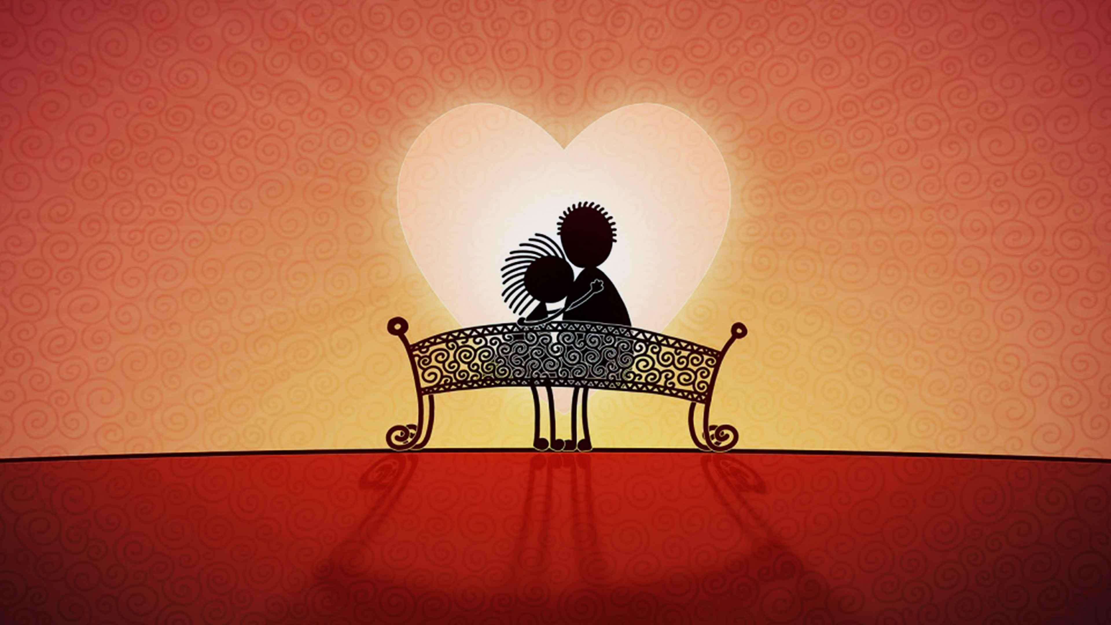 3d Love Couple Cartoon Wallpapers Download 3d Wallpapers
