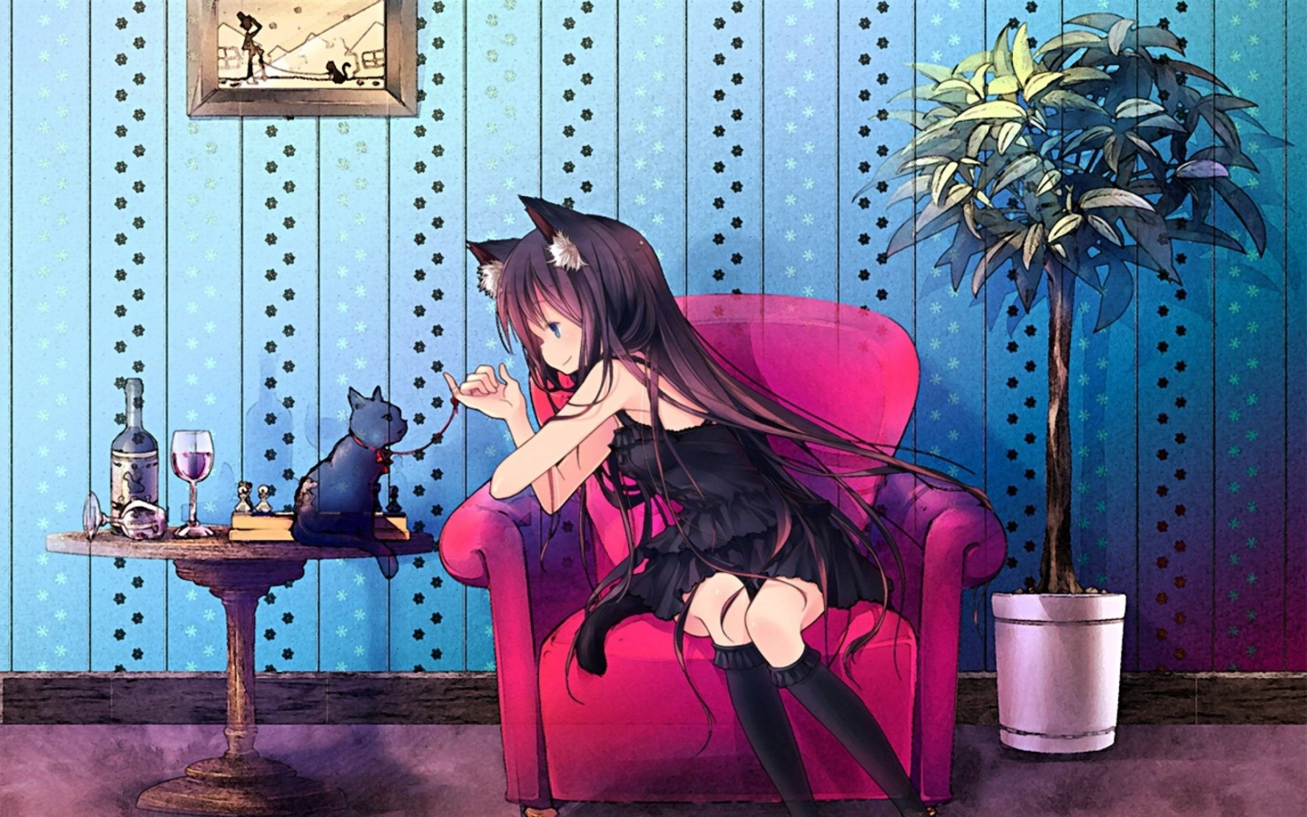Cat Girl Anime Wallpaper Posted By Samantha Thompson