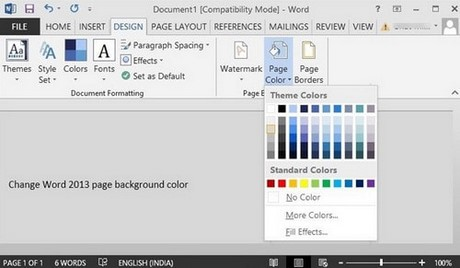 Change Background Color In Word Posted