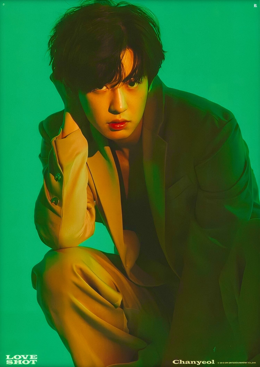 HD Photo Scan of EXO CHANYEOL LOVESHOT. on We Heart It