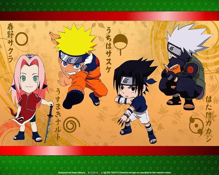 HD wallpaper haruno sakura uchiha sasuke chibi naruto