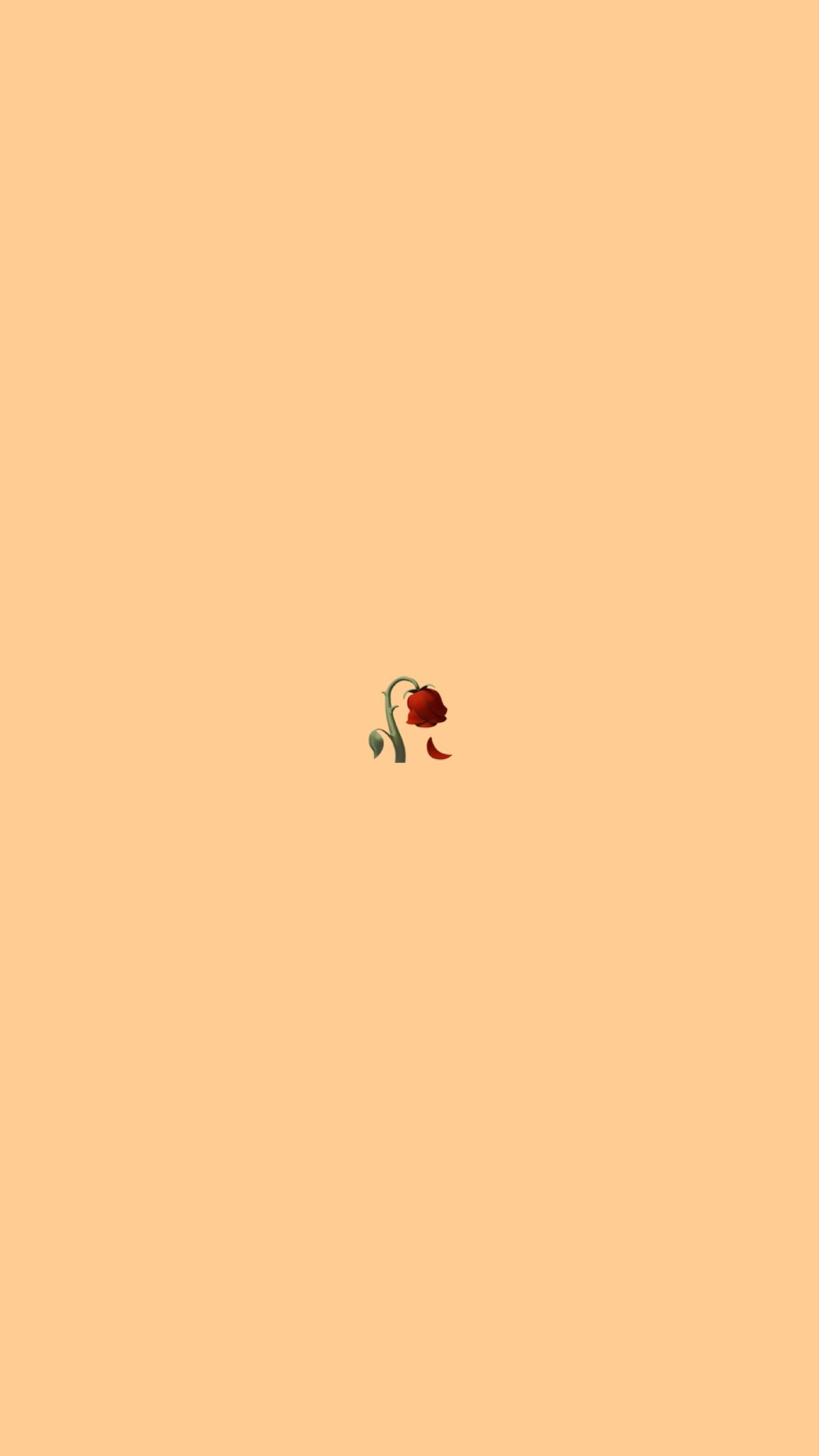 Rose Emoji Background Emoji Wallpaper Iphone Sad Wallpaper