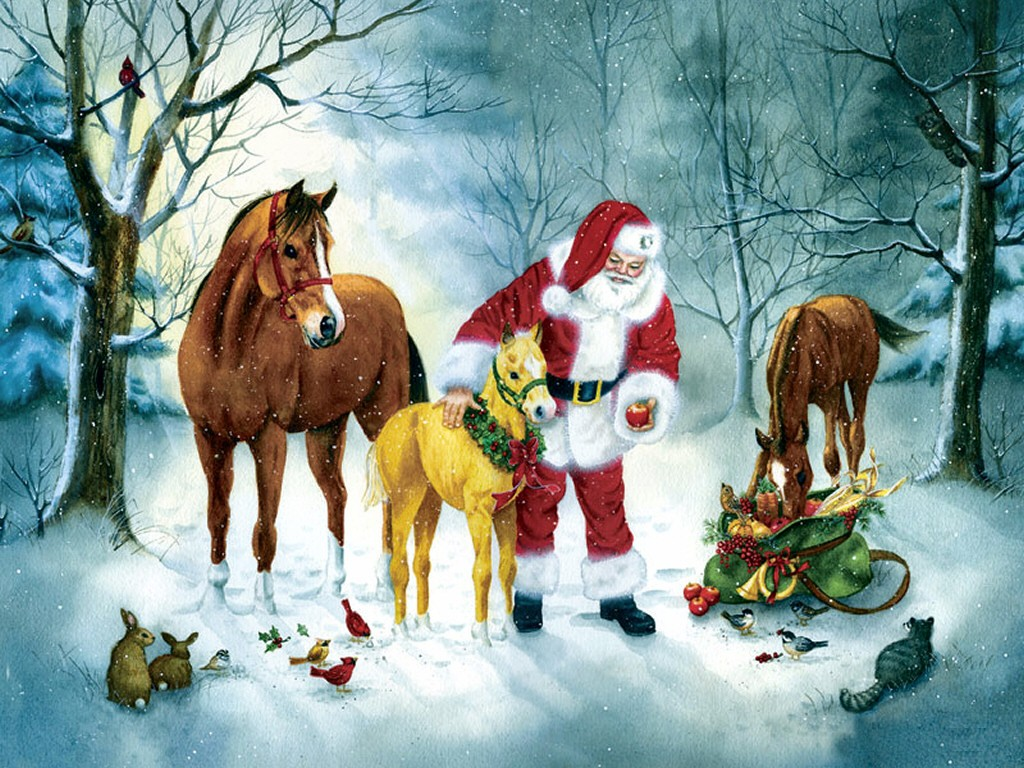 Christmas Horse Wallpaper Posted By Ethan Thompson