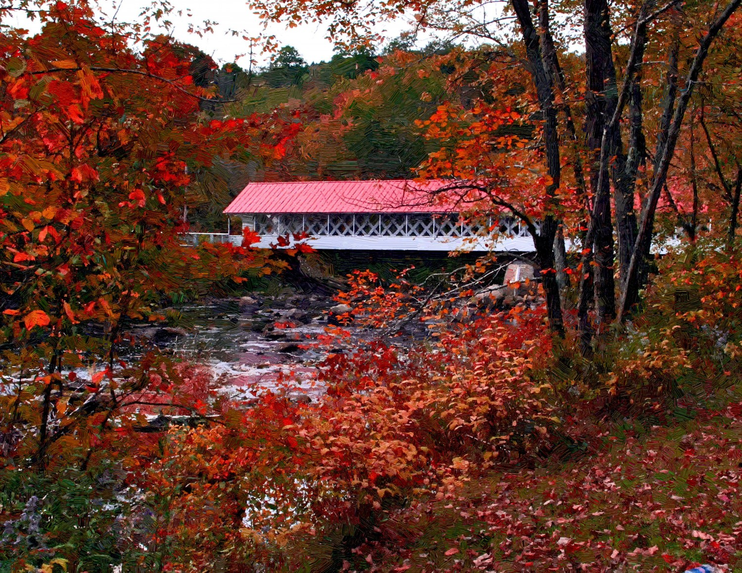 Covered Bridge In Autumn Wallpapers Posted By Ethan Walker