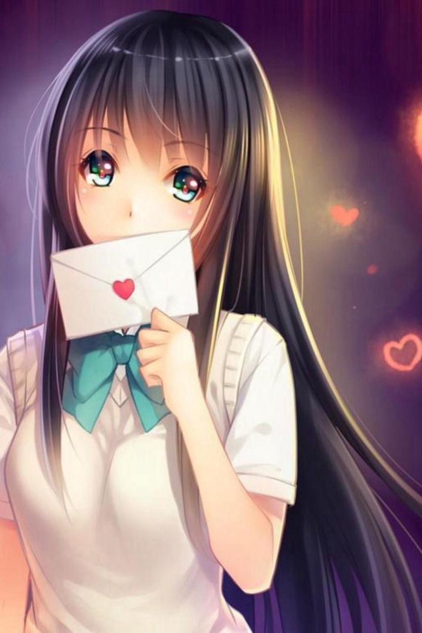 Anime Girl Wallpaper Love - Anime Wallpaper HD