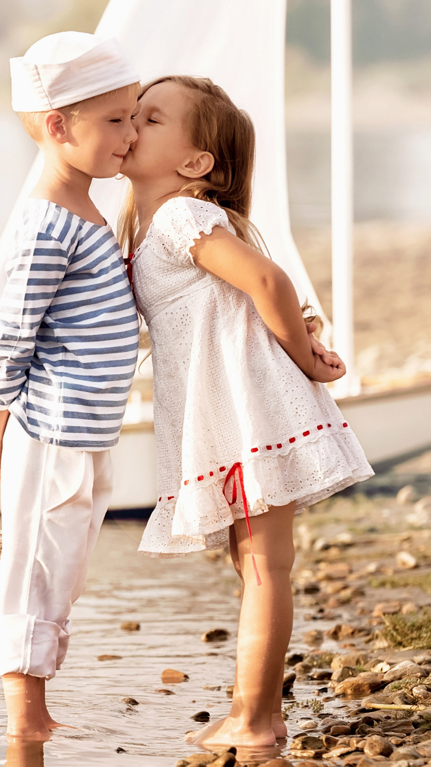 Cute Baby Kiss Hd Wallpaper Posted By Zoey Walker