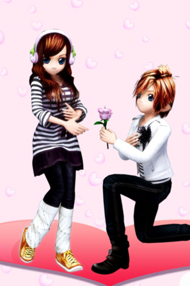 Cute Cartoon Love Couple Wallpaper Posted By John Johnson