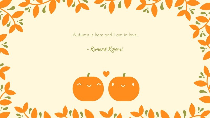 Cute Pumpkin Couple Fall Desktop Wallpaper Templates by Canva