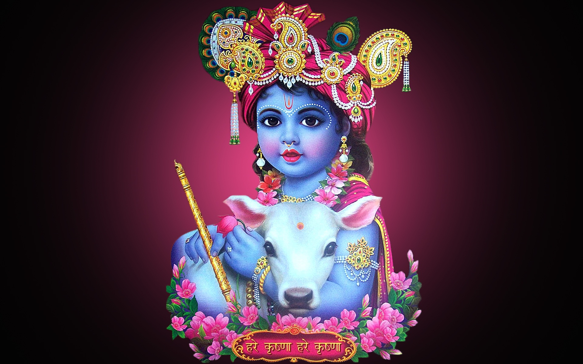 Baby Krishna With Cute Cow Wallpapers Baby Cute Krishna