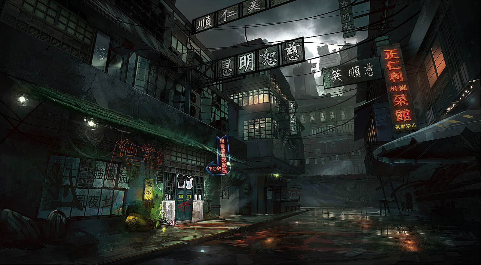Dark City Background Posted By John Mercado