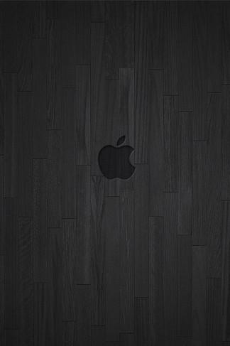 Apple Dark Wood iPhone 4 Wallpaper