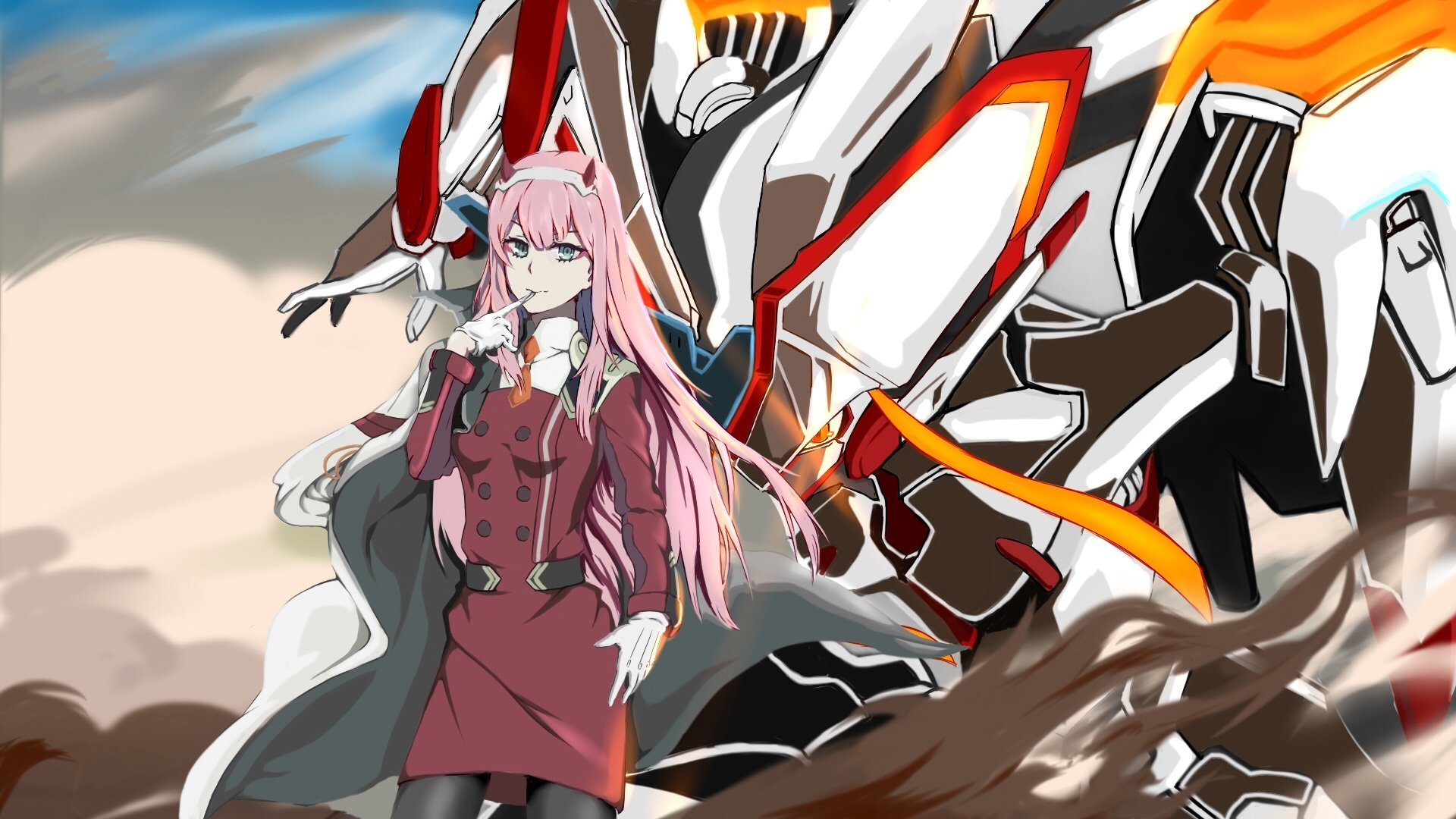 Darling In The Franxx Wallpaper 1920x1080 Posted By Michelle Walker