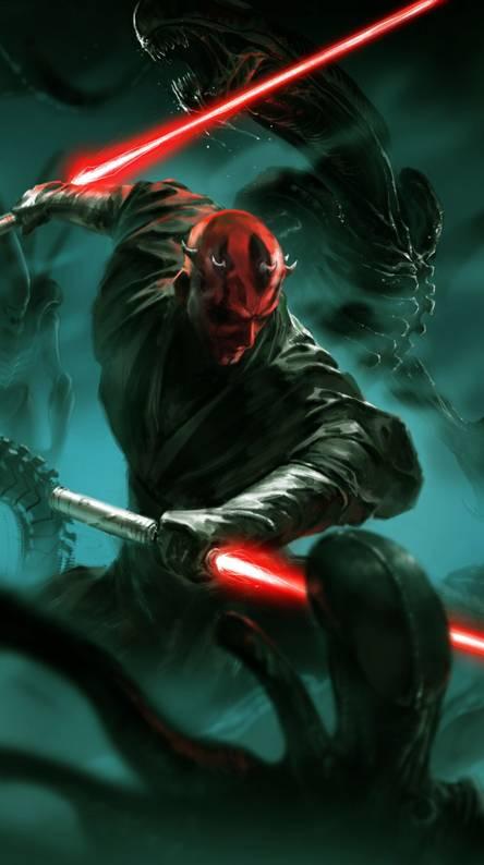 Wallpaper Star Wars Sith Darth Maul darkness graphics