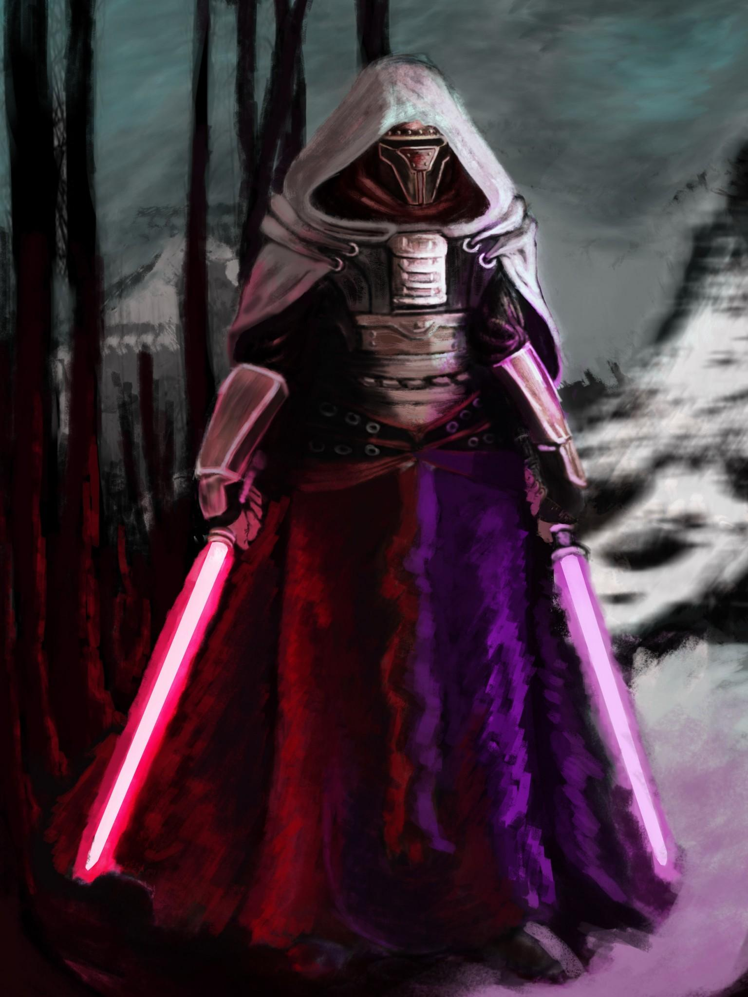 1125x2436 Darth Revan Star Wars With Lightsaber Iphone XS