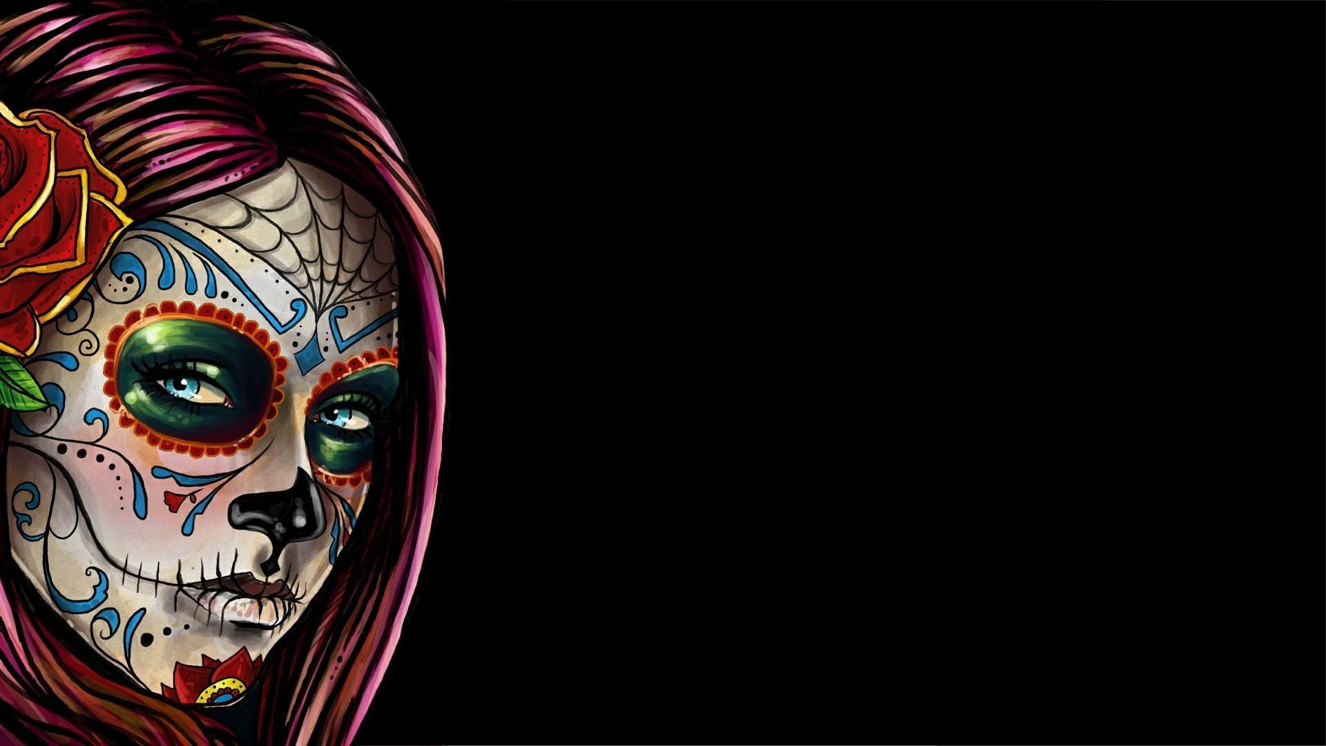 Day Of The Dead Girl Wallpaper Posted By Zoey Peltier