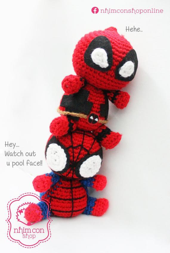 Chelsea Thomas - Chibi Deadpool Pattern - Free-Knitting and ... | 847x570