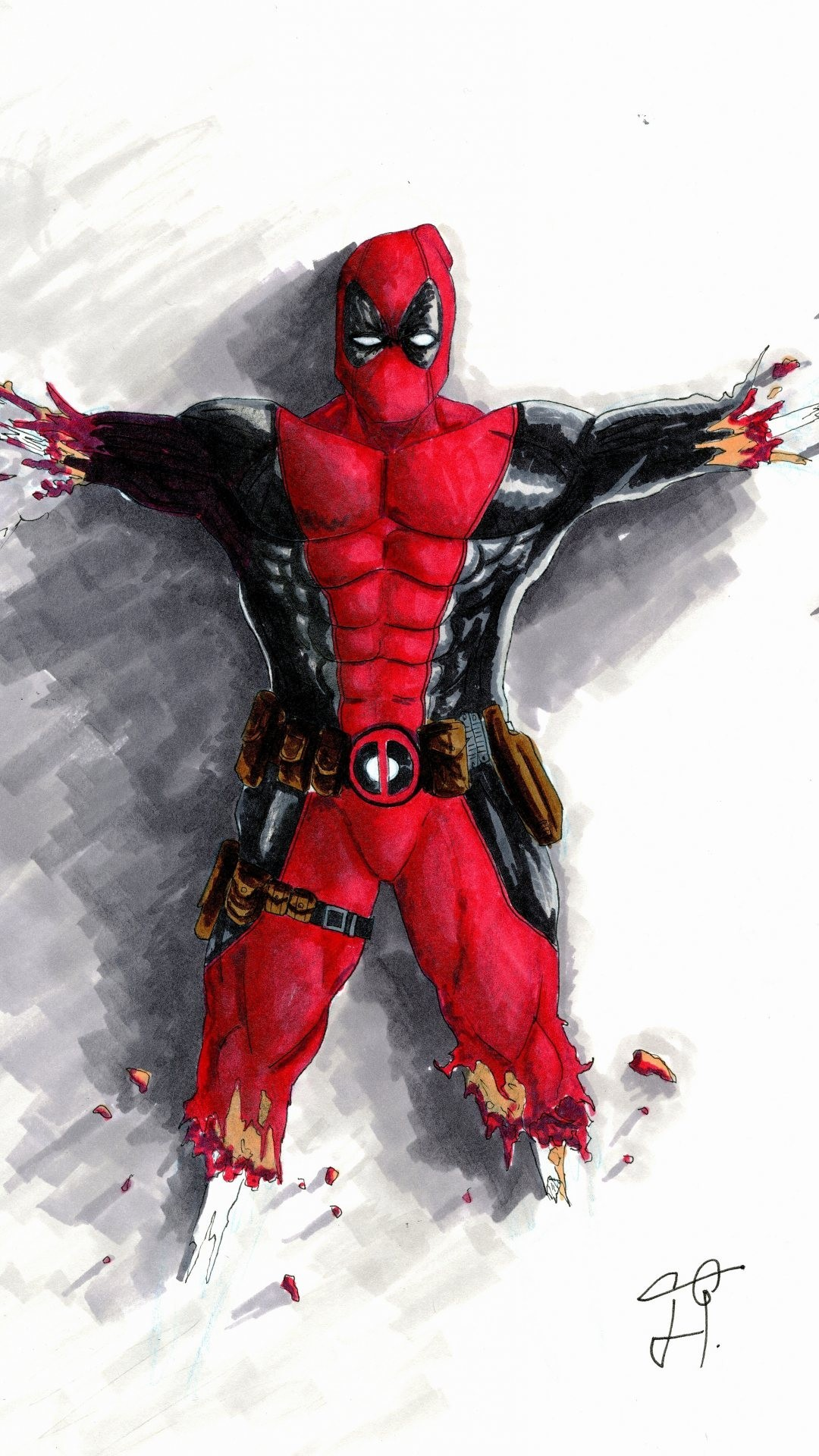 Deadpool Hd Wallpaper Iphone Posted By Zoey Johnson