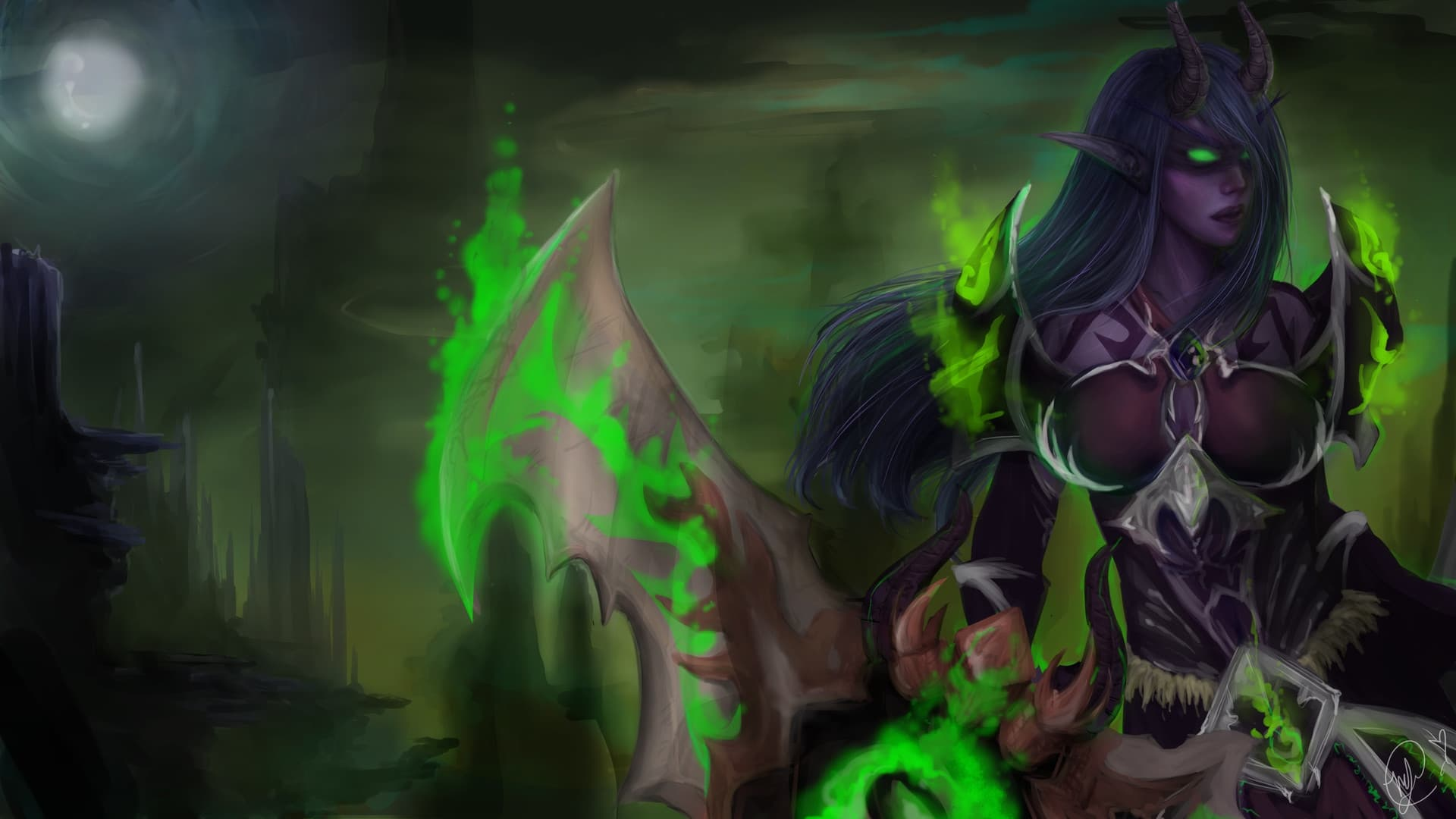 Demon Hunter Wallpaper Wow Posted By Michelle Simpson