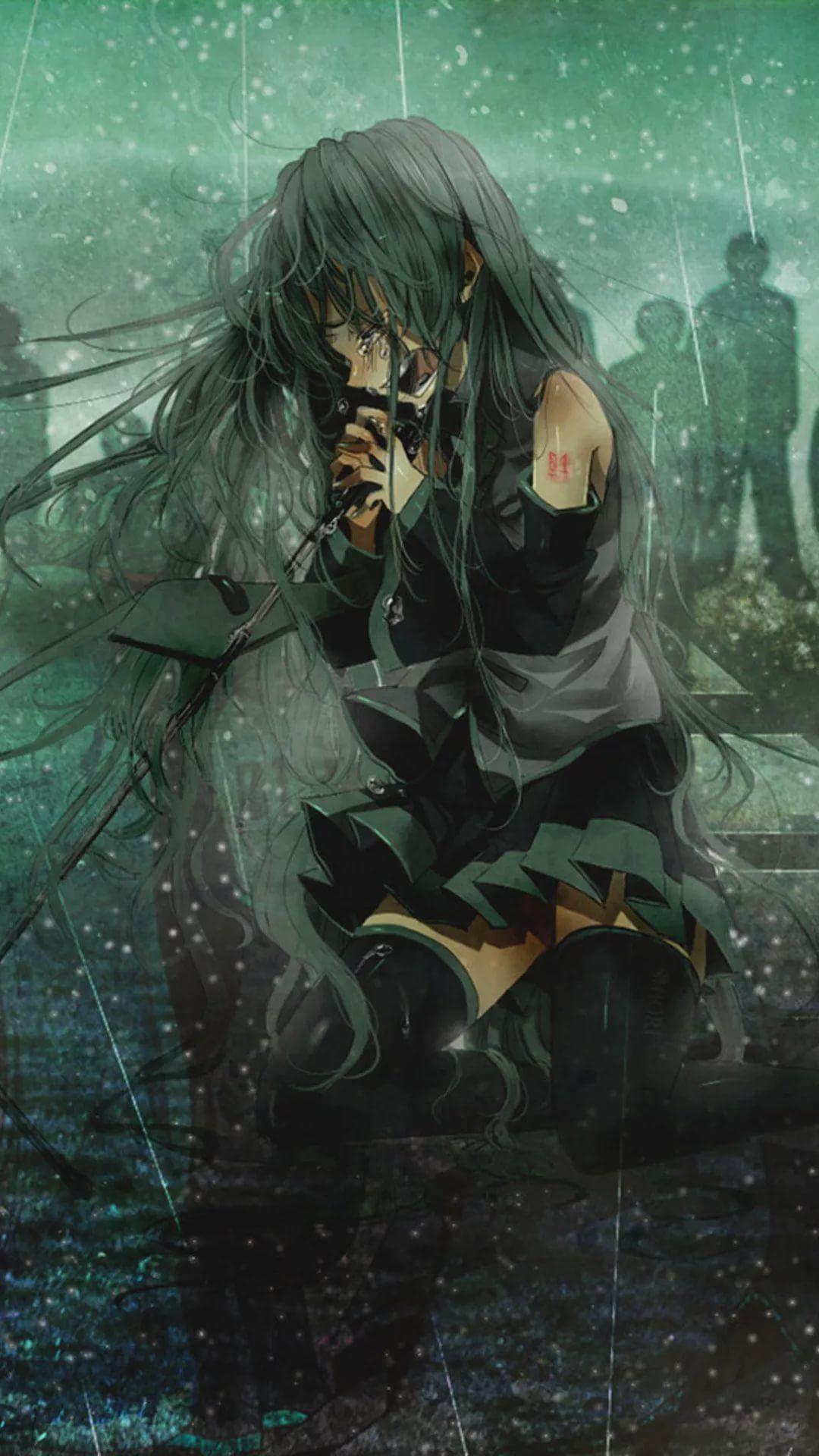 Depressed Anime Girl Wallpaper Posted By John Thompson