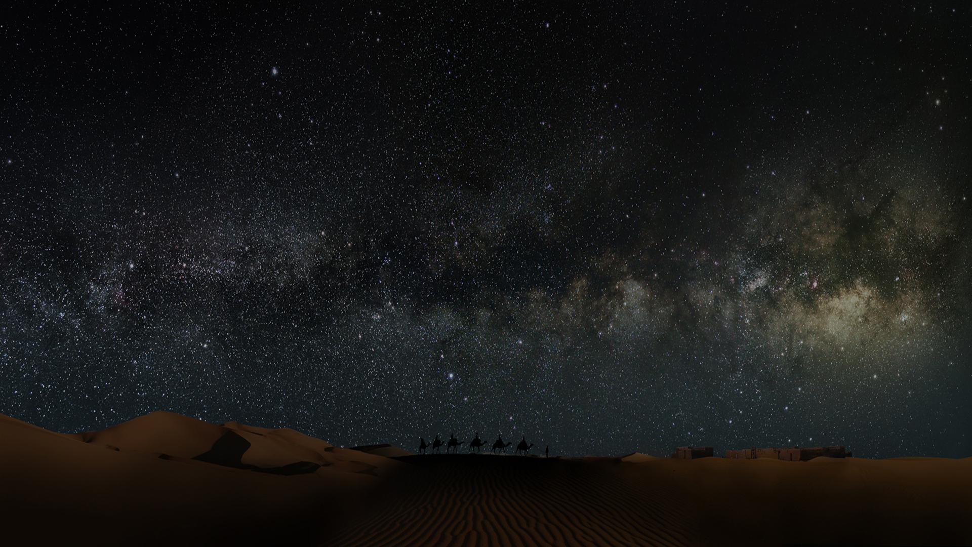 Desert At Night Wallpaper Posted By John Peltier