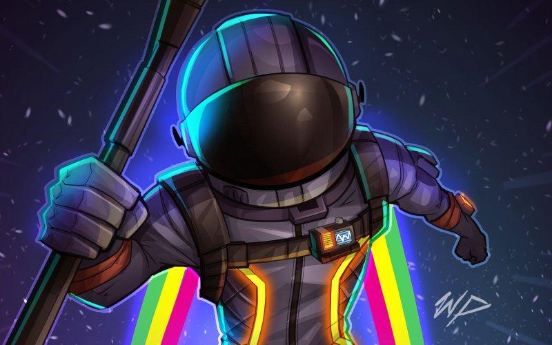 Desktop wallpaper fortnite dark voyager helmet game hd