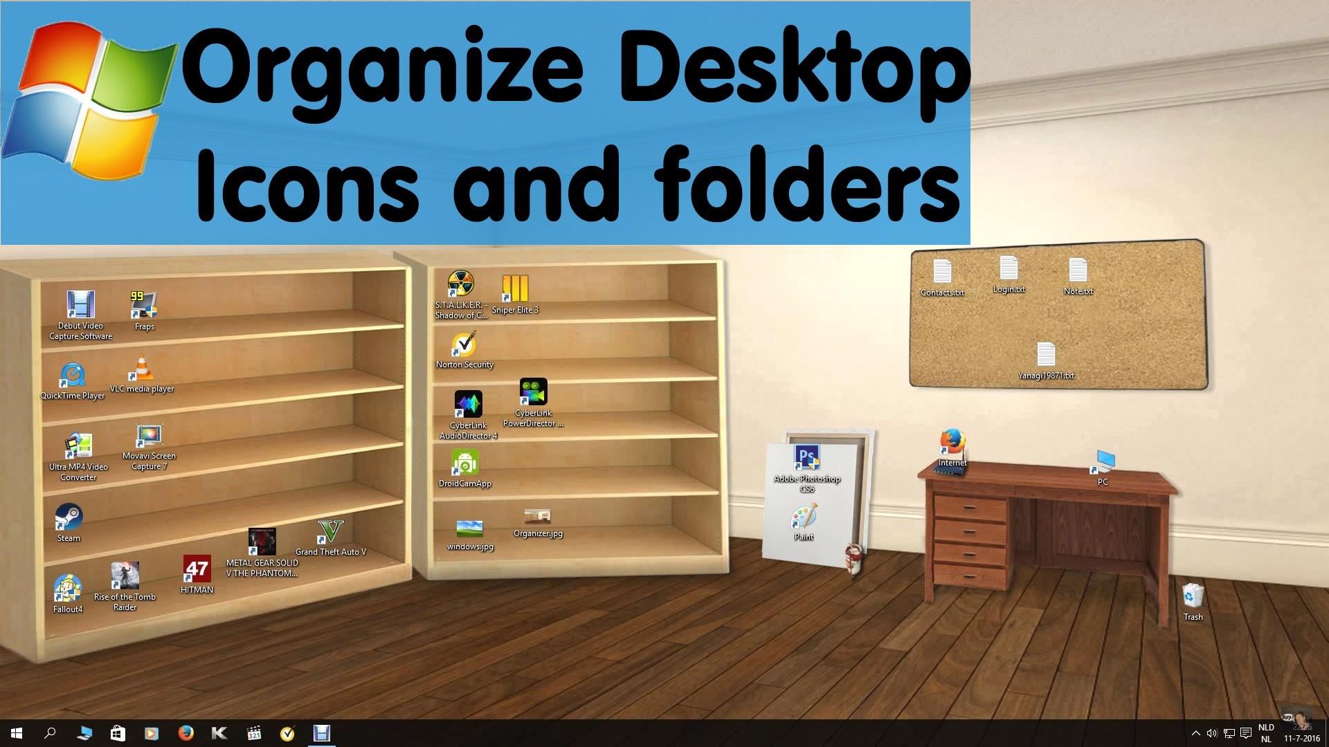 Desktop Wallpaper Desk And Shelf Posted By Samantha Mercado