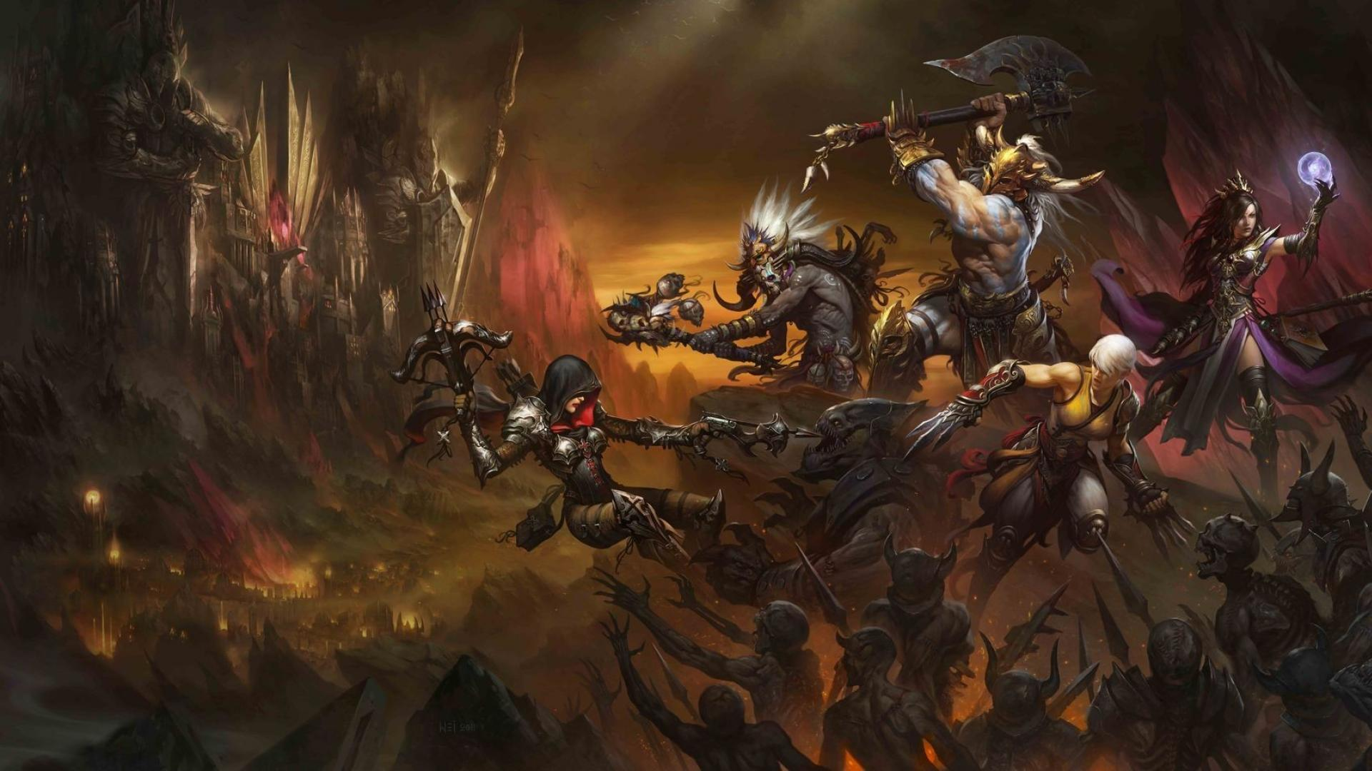 Diablo 3 Demon Hunter Wallpaper 1920x1080