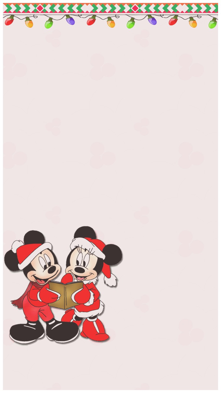 Disney Christmas Wallpaper Hd Iphone Mickey And Minnie