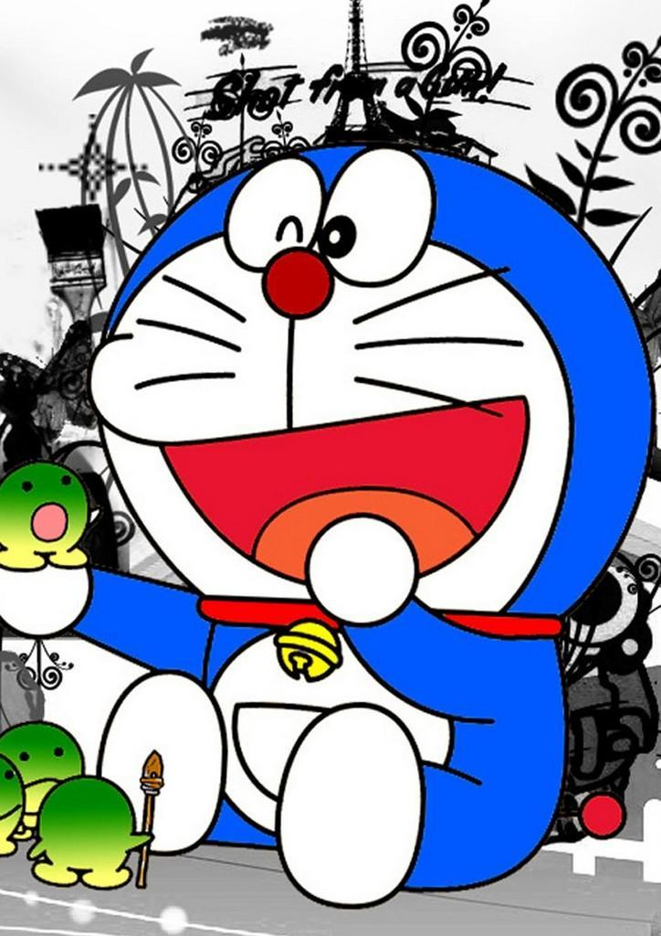 Download Wallpapers 540x960 Brown Cat Hello Kitty Android Doraemon Wallpaper Posted By Ethan Peltier