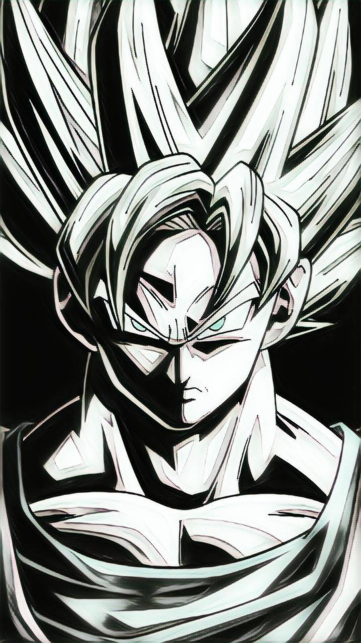 Dragon Ball Z Black And White Picture Posted By Ethan Cunningham