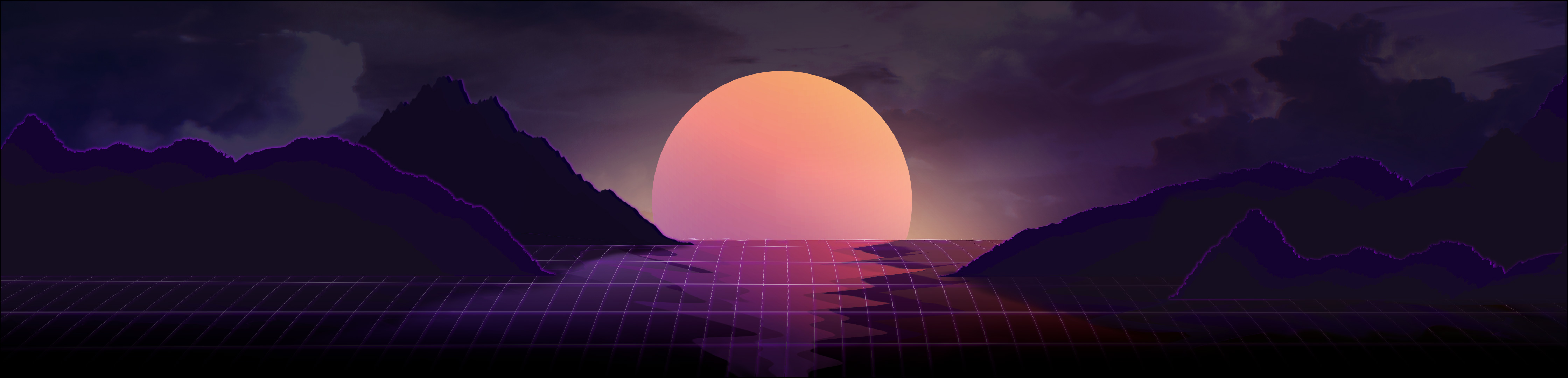 Dual Monitor Wallpaper Vaporwave Posted By Zoey Simpson