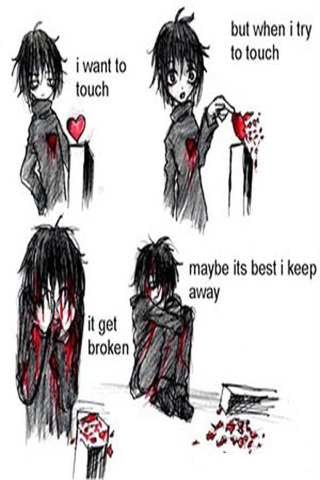 Emo Heart Wallpaper Posted By Michelle Mercado