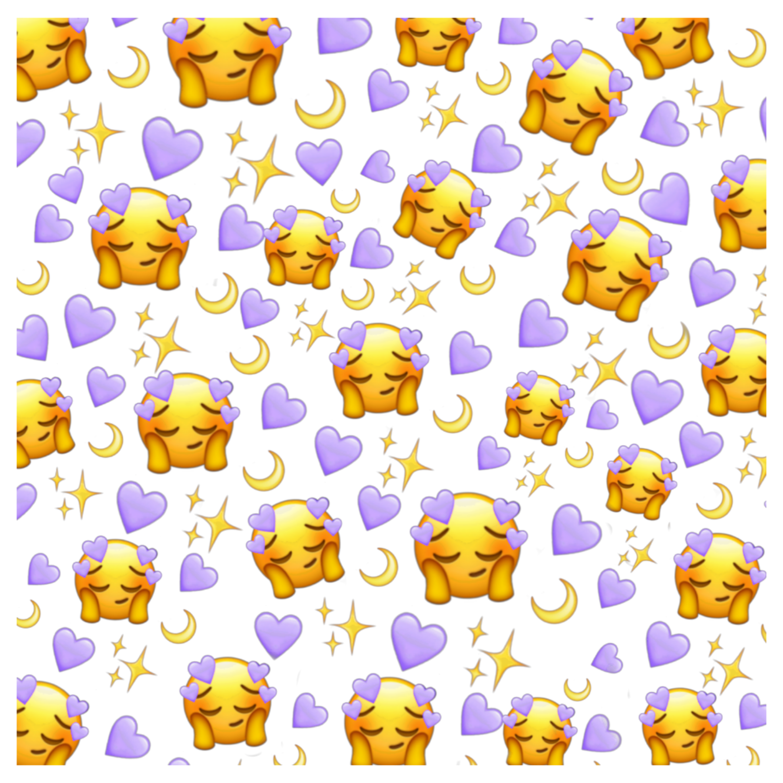 wallpaper purple emoji iphone hear tumblr beautiful sta