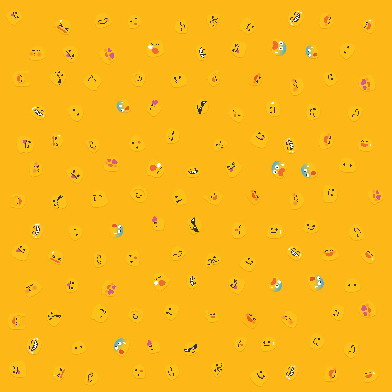 Liam Spradlin created a blob emoji wallpaper Android