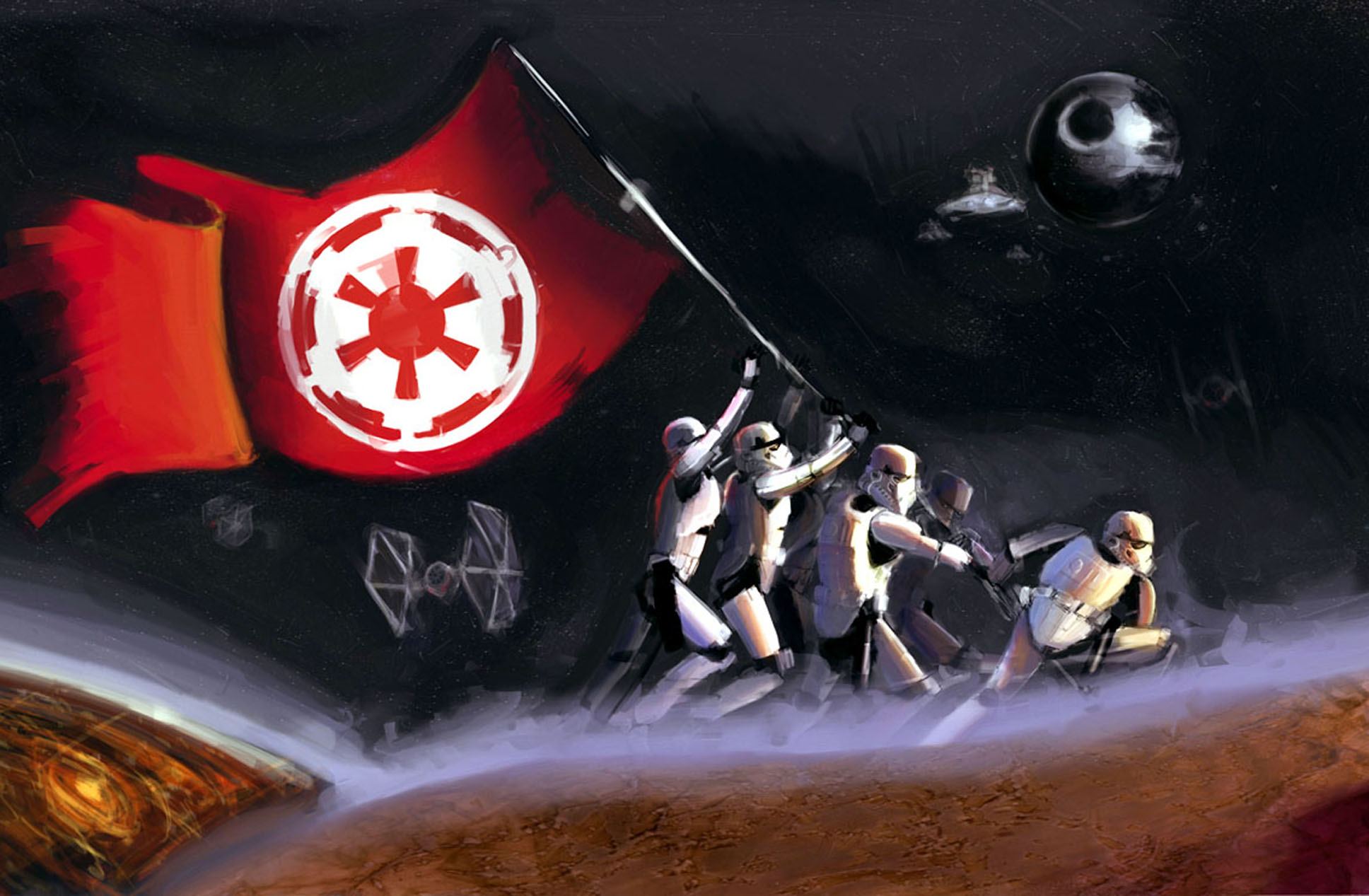 stormtroopers Star Wars Flag Drawing Wallpapers HD