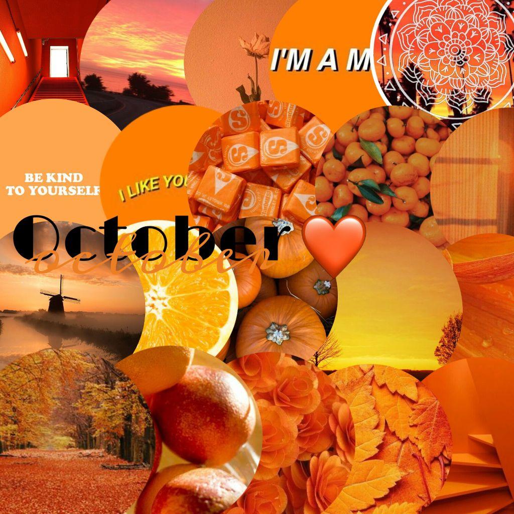 ddOctoberdd october orange aesthetic tumblr wal