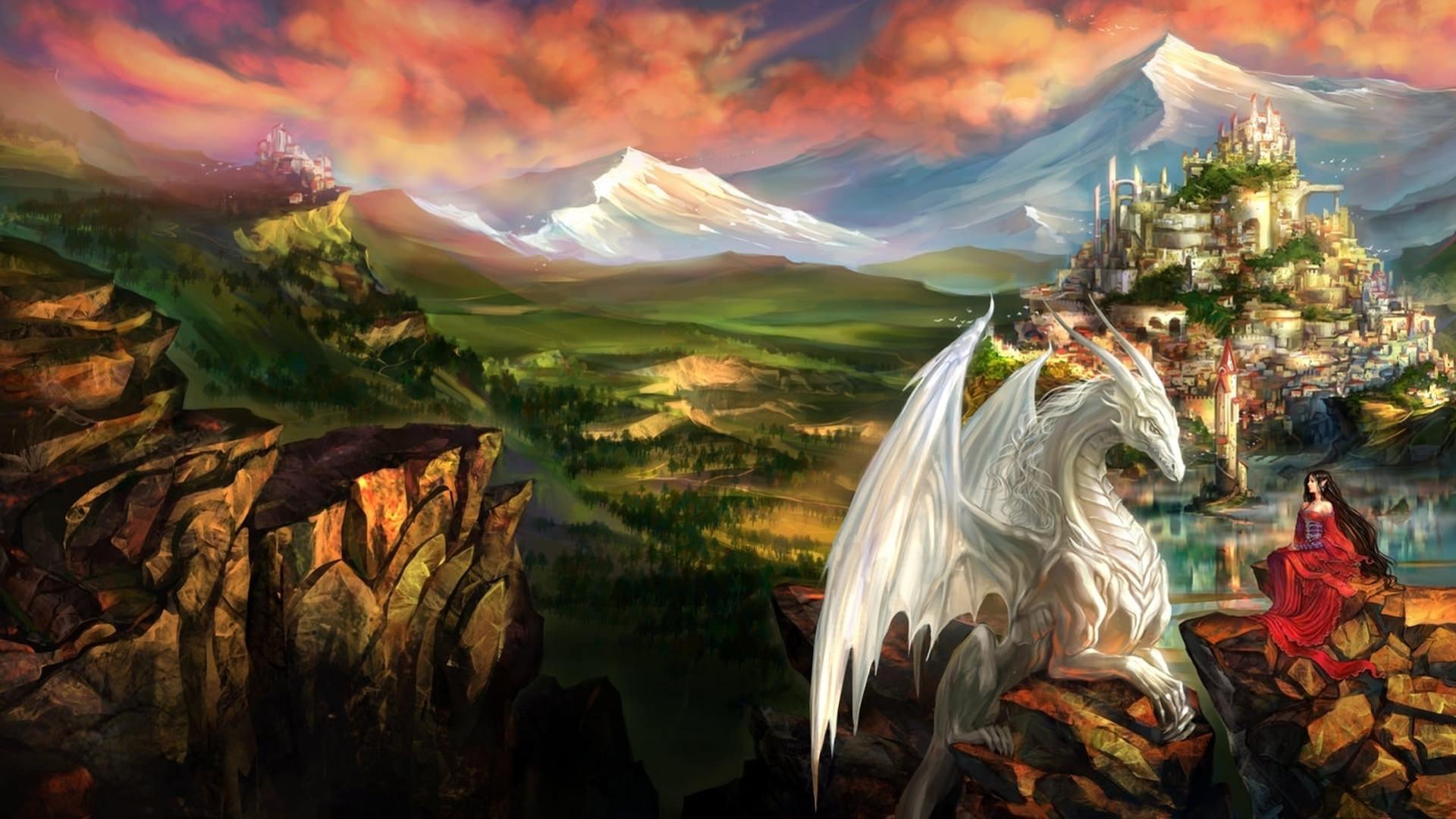 30+ Fantasy Dragon Wallpaper Desktop PNG