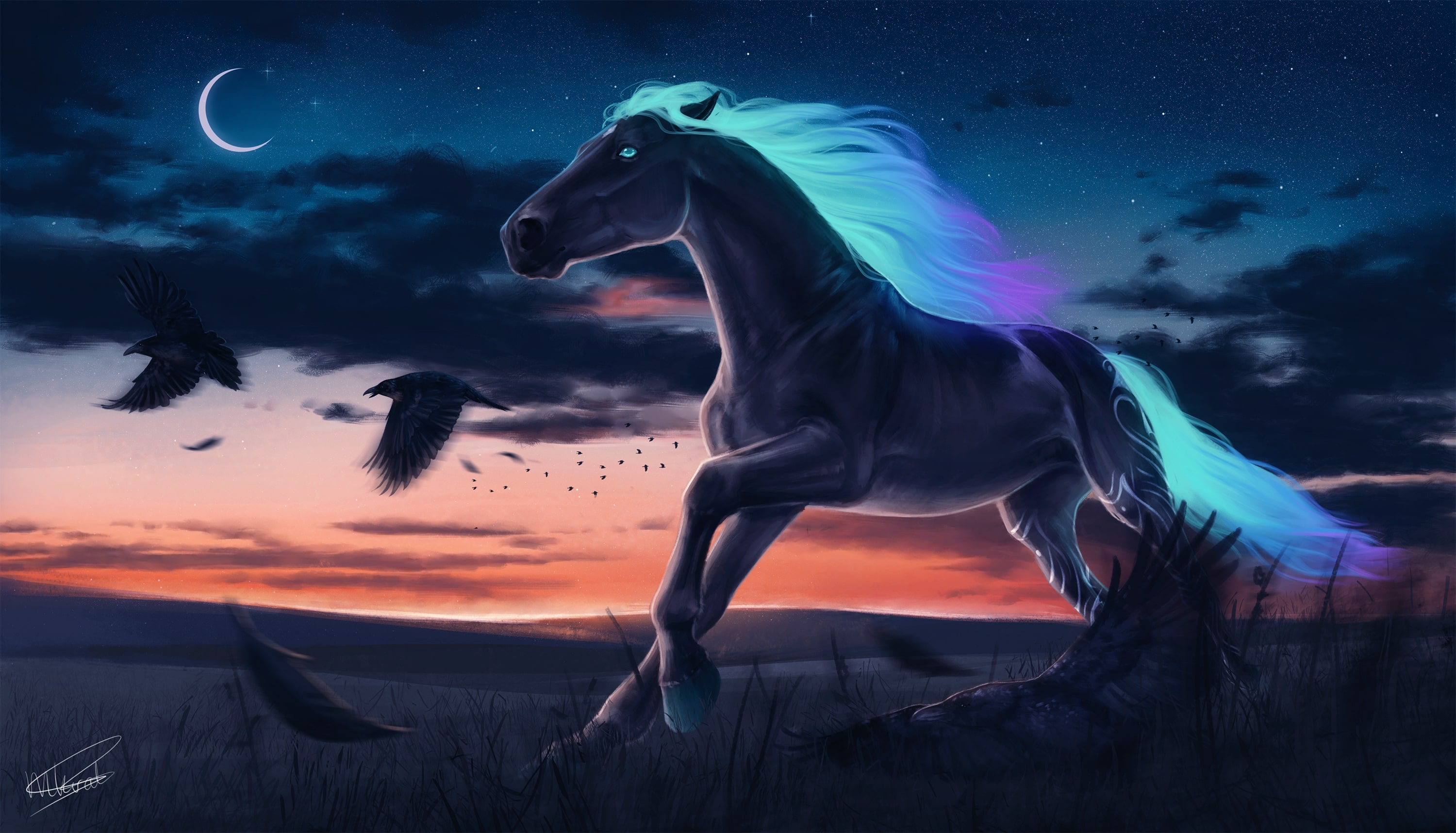 Fantasy Horse Wallpaper Posted By Samantha Cunningham