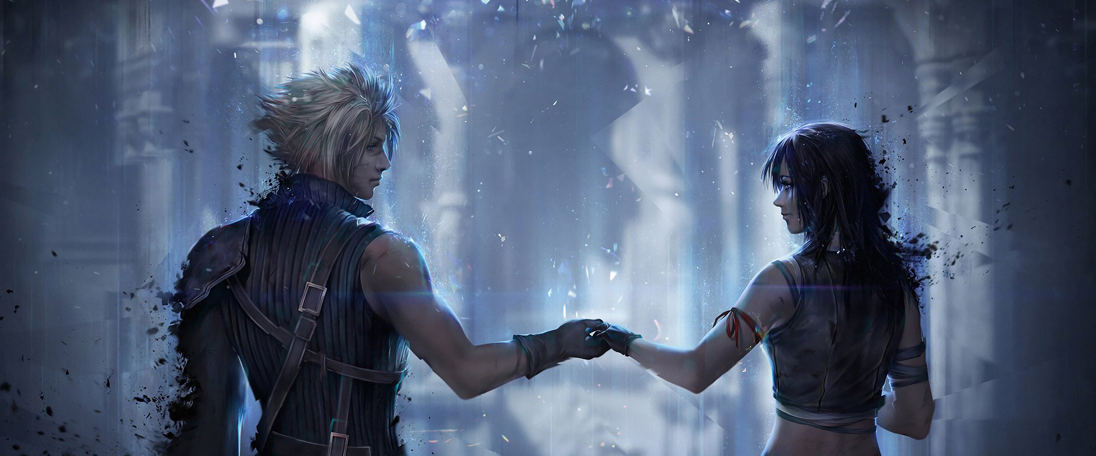 Cloud Strife Tifa Lockhart Final Fantasy 7 Remake 4K