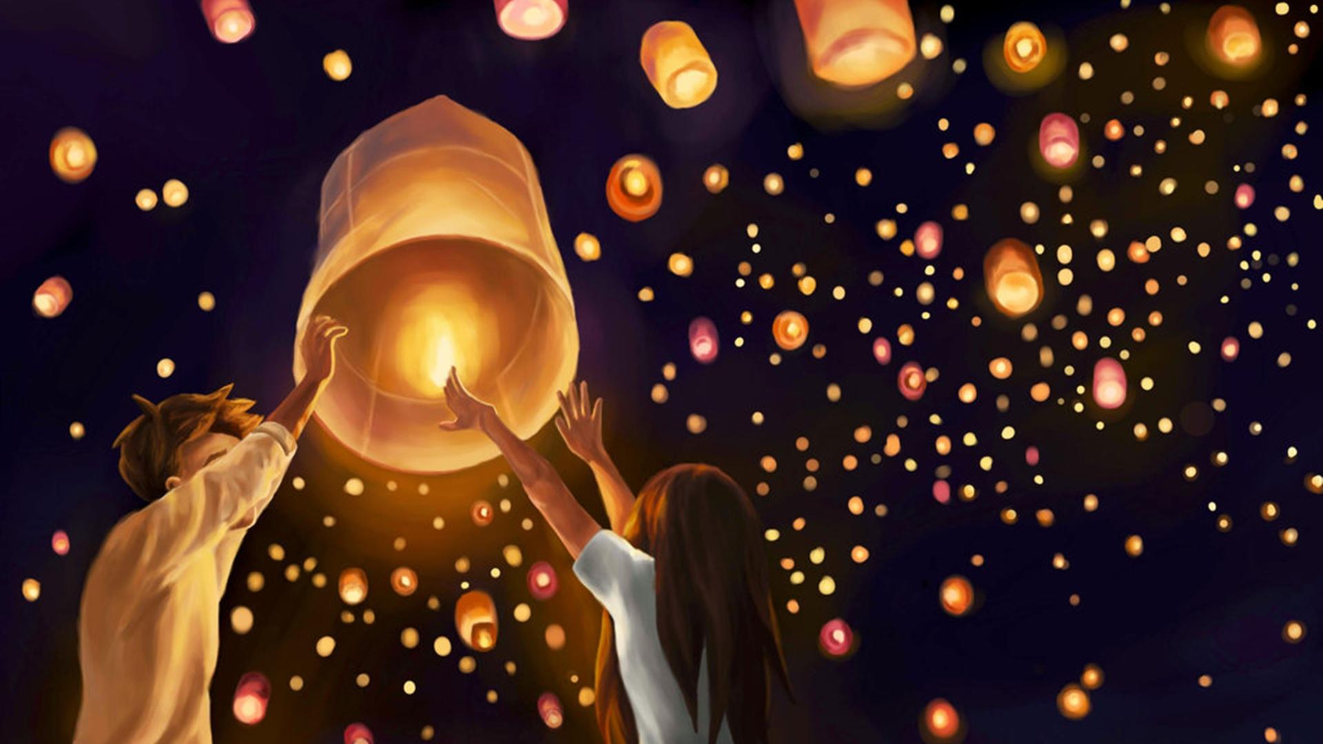 Paper Sky Lantern HQ Background Wallpaper 25509 Baltana