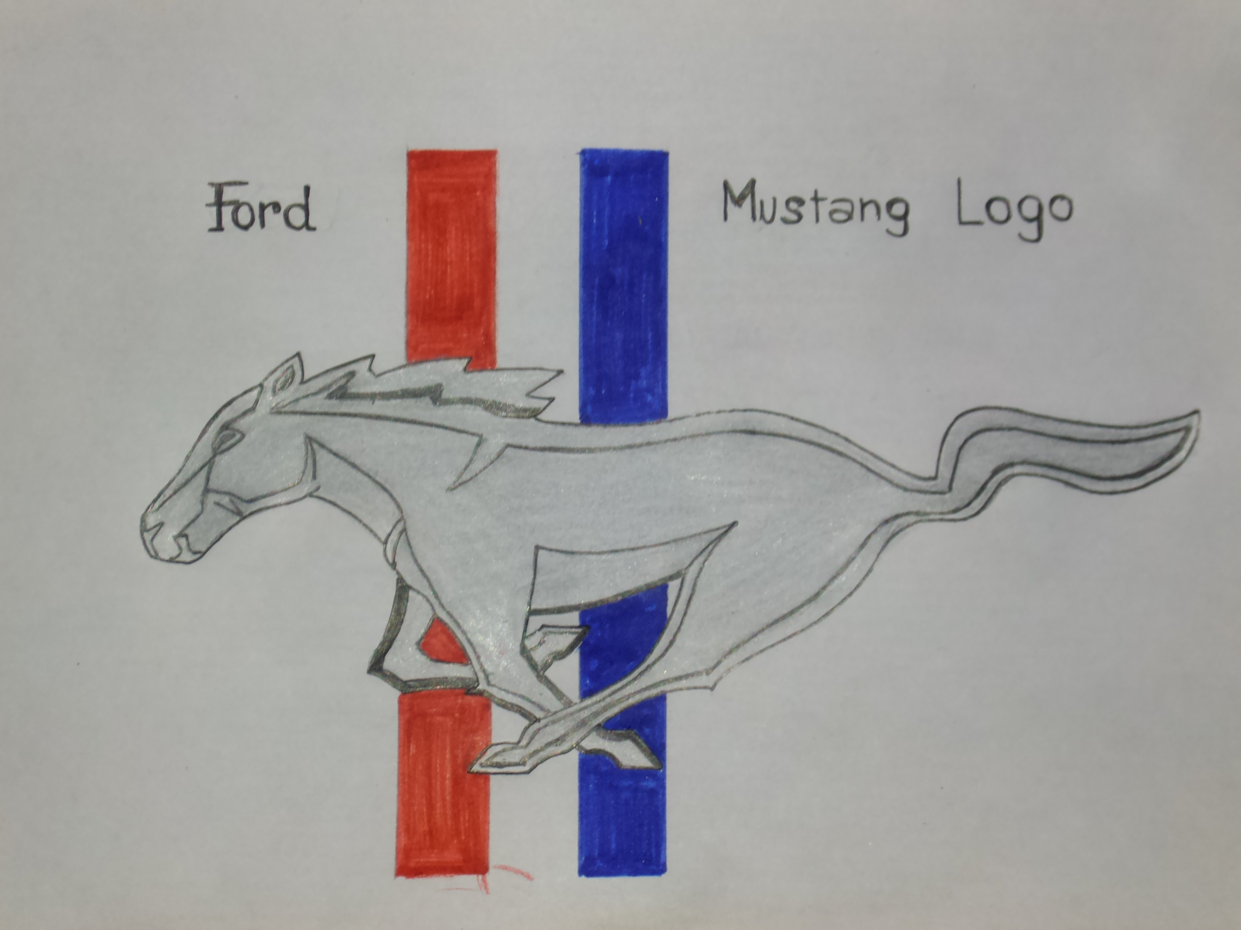 Ford Mustang Logo Images posted by Ethan Simpson | Mustang Logo Drawings |  | CuteWallpaper.org