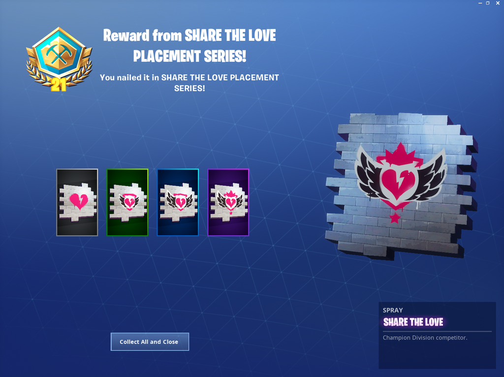 Fortnite Share Tge Love Spray Fortnite Share The Love Posted By Samantha Cunningham