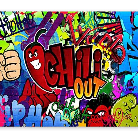 Wallpaper 300x210 cm Non woven Murals Wall Mural Photo 3D modern Graffiti 10110905 11
